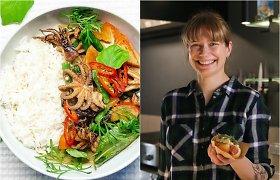 """""""Bulvių košės"""" receptas: tailandietiškas žaliasis karis su aštuonkojais"""