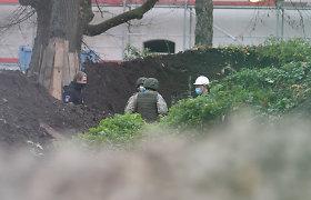 """Parke sostinės senamiestyje – planas """"Skydas"""": driokstelėjo kontroliuojamas sprogimas"""