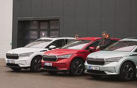 """""""Škoda Enyaq iV"""" pristatymas Lietuvoje"""