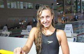 Plaukikė Kazakevičiūtė jaunimo olimpiadoje Singapūre – vėl aštunta