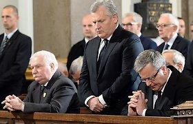Paskutinis komunistinės Lenkijos lyderis Wojciechas Jaruzelskis palaidotas vykstant protestams