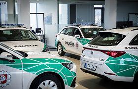 """Pristatomi nauji tarnybiniai policijos automobiliai – 103 žymėti """"Seat Leon Sportstourer"""""""