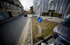 "Skveras Vilniuje, kur stovės Petro Repšio skulptūra ""Užupio obeliskas"""