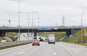 Dėl kelio darbų Vakariniame aplinkkelyje bus ribojamas transporto greitis ir susiaurinta gatvės dalis