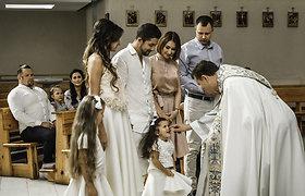 Natalijos ir Vytauto Mackonių dukros Nikoletės krikštynos