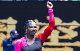 """Seserys Williams, N.Osaka ir Lenkijos teniso žvaigždė pergalingai pradėjo """"Australian Open"""""""