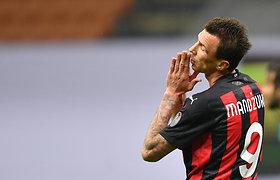 """Sunkus vakaras Italijos grandams: taškus barstė ir """"AC Milan"""", ir """"Inter"""""""