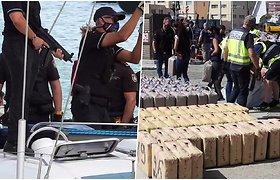Prabangiomis jachtomis į Ispaniją plaukė hašišas – policija konfiskavo 35t narkotikų
