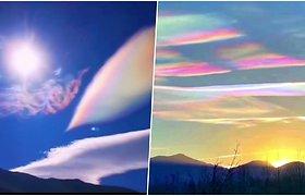 Danguje pasirodė reto grožio reginys – vaivorykštiniai debesys