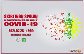 """Vasario 28 dieną 15min portale – """"Skirtingų Spalvų"""" konferencija apie COVID-19"""