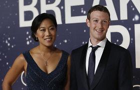 """""""Facebook"""" įkūrėjas Markas Zuckerbergas ir Priscilla Chan laukiasi antro vaiko"""
