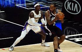 """""""Clippers"""" Los Andželo derbyje įkirto traumų išguldytiems NBA čempionams"""