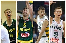 Testas: ar pavyks prisiminti Lietuvos krepšinio rinktinės žaidėjus, kurie sėdėdavo suolelio gale?