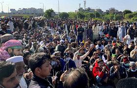 Pakistano sostinė blokuota dėl protestų prieš Prancūziją