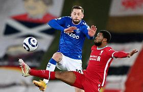 Liverpulis – mėlynas: Anglijos čempionai krito miesto derbyje