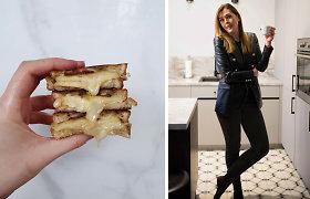 """""""O ką skanaus"""" receptas: keptas sumuštinis su šonine, obuoliais ir sūriu"""