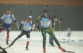 Lietuvos vyrų biatlono estafetės komanda artėja prie keturių olimpinių kelialapių