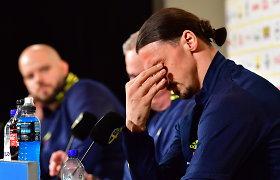 Ir Zlatanas kartais verkia: į rinktinę sugrįžusi legenda sunkiai tramdė ašaras