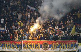 Juodkalnijos ir Rusijos rungtynės: UEFA baus ne tik šeimininkus, bet ir rusus
