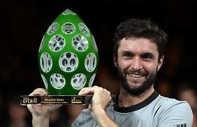 Meco čempionas – laiką atgal atsukęs Gillesas Simonas