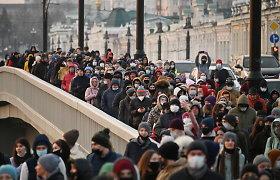 Rusijos Sibire surengta akcijų A.Navalnui palaikyti, sulaikyta per 200 žmonių