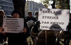 Latvijoje įvyko švietimo reformos priešininkų eitynės