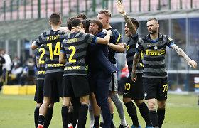 """Italijoje į pergalių kelią sugrįžo """"Inter"""", """"Juventus"""" ekipai – dar vienas nusivylimas"""