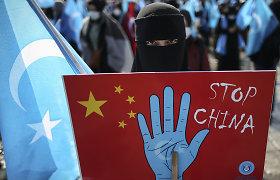 Kaip reaguos JAV į aktyvistų siūlymą dėl Pekino olimpinių žaidynių boikoto?