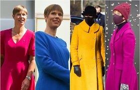 Estijos prezidentės Kersti Kaljulaid stilius: nevengia ryškių paltų ir suknelių