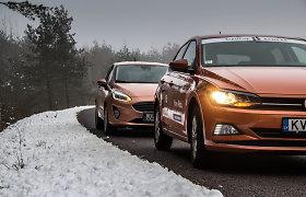 """""""Ford Fiesta"""" prieš """"Volkswagen Polo"""": kai maži automobiliai tampa dideliais"""