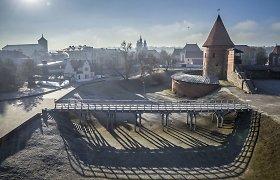 Pranešta apie gaisrą Kauno pilyje – ugnis įsižiebė gynybinės sienos nišoje