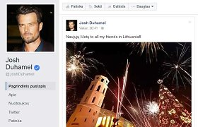 Holivudo aktorius Joshas Duhamelis su Naujaisiais pasveikino lietuvius