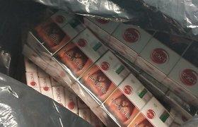 Akmens vatos maišuose Šiaulių pareigūnai rado kontrabandos už 14 tūkst. eurų