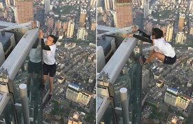 Žuvo garsus Kinijos laipiotojas stogais: mirtiną kritimą nuo 62 aukšto nufilmavo jo kamera