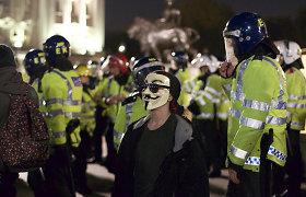 Londono centrą nusiaubė anarchistų sukeltos riaušės