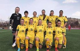 Lietuvos moterų futbolo rinktinė pergalingai pradėjo turnyrą Armėnijoje