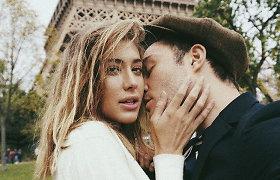 """""""Liežuvautojos"""" žvaigždė Edas Westwickas su mylimąja Jessica Serfaty"""