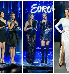 """""""Eurovizijos"""" gerbėja piktinasi """"perdėm seksualiu"""" atrankos vedėjų stiliumi: """"Nežinau, nė kur žiūrėti"""""""