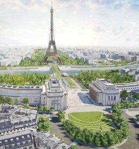 Paryžius aplink Eifelio bokštą sukurs milžinišką sodą