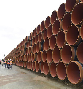 """""""Gazprom"""": nutiesta beveik 60 proc. """"Nord Stream 2"""" dujotiekio"""