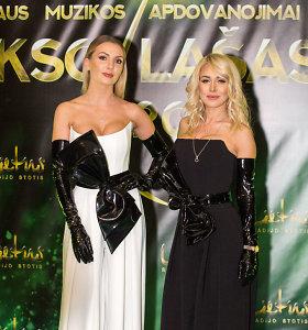 Artimos draugės Oksana Pikul ir Monika Šedžiuvienė į muzikos apdovanojimus atvyko susiderinusios