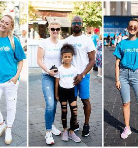 Finalinis UNICEF bėgimas Vilniuje: žinomų tėvų mažieji bėgo už vargstančius vaikus