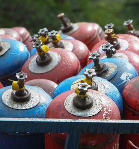 Norima išguiti dujų balionus iš daugiabučių