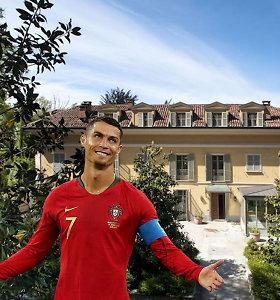Cristiano Ronaldo Italijoje gyvens rūmuose su slaptais požeminiais išėjimais