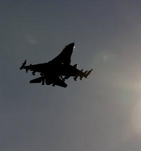 Vokietijoje sudužo JAV naikintuvas, pilotas išsigelbėjo