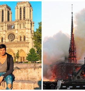 """Paryžiaus katedros gaisrą iš arti stebėjęs modelis Simonas Pham: """"Negalėjau sulaikyti ašarų"""""""