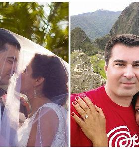 Verslininkas Radvilas Bubelis išsiskyrė su perujiete žmona Mariana: santuoka truko metus