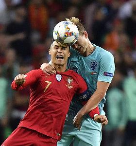 """Po Tautų lygos finalo – C.Ronaldo pasiūlymas jaunajam """"Ajax"""" talentui"""