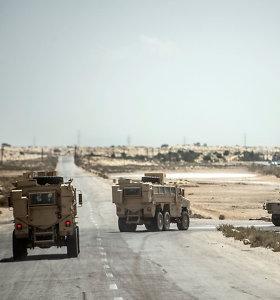 Sinajuje sprogus pakelės bombai žuvo Egipto kariuomenės pareigūnas