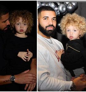 Drake'o gerbėjai pirmą kartą išvydo jo sūnų: reperis paviešino nerodytas mažojo Adonio nuotraukas